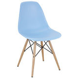 Modway Furniture Pyramid Modern Dining Side Chair Light Blue, Dining Chairs - Modway Furniture, Minimal & Modern - 4