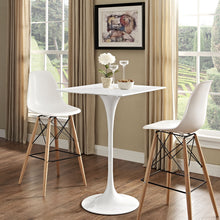 "Modway Furniture Modern Lippa 28"" Bar Table Square Top EEI-1826-WHI-Minimal & Modern"
