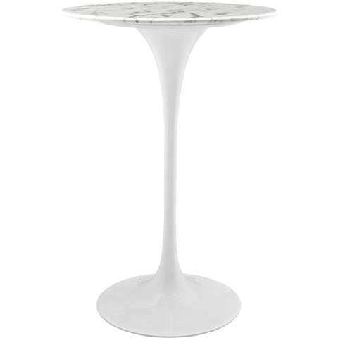 "Modway Furniture Modern Lippa 28"" Bar Table Marble Top White, Bar Tables - Modway Furniture, Minimal & Modern - 1"