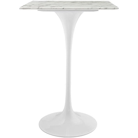 "Modway Furniture Modern Lippa 28"" Artificial Marble Bar Table in White , Bar Tables - Modway Furniture, Minimal & Modern - 1"