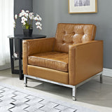 Modway Furniture Loft Leather Armchair , Armchair - Modway Furniture, Minimal & Modern - 17