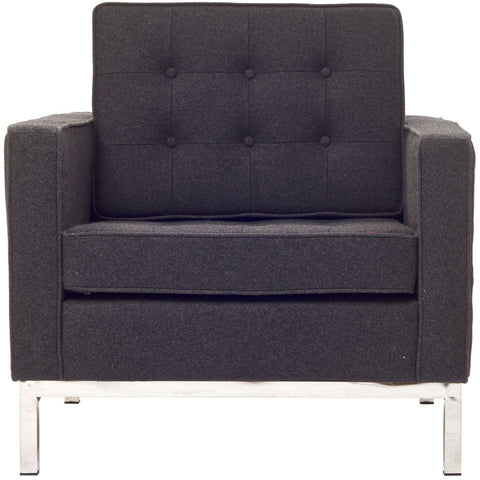 Modway Furniture Loft Wool Armchair Dark Gray, Armchair - Modway Furniture, Minimal & Modern - 1