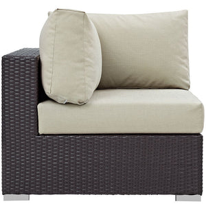 Modway Furniture Modern Convene Outdoor Patio Corner EEI-1840-Minimal & Modern