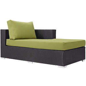 Modway Furniture Modern Convene Outdoor Patio Fabric Right Arm Chaise EEI-1843-Minimal & Modern