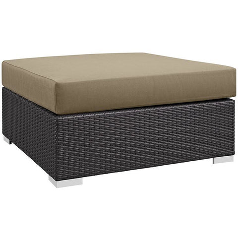 Modway Furniture Modern Convene Outdoor Patio Large Square Ottoman , Outdoor Ottomans - Modway Furniture, Minimal & Modern - 1