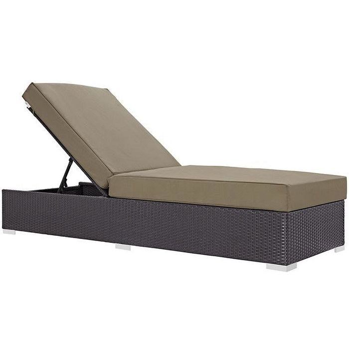 Modway Furniture Modern Convene Outdoor Patio Chaise Lounge Espresso Mocha, Daybeds and Lounges - Modway Furniture, Minimal & Modern - 1