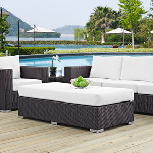 Modway Furniture Modern Convene Outdoor Patio Fabric Rectangle Ottoman EEI-1847