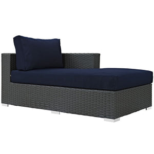 Modway Furniture Modern Sojourn Outdoor Patio Fabric Right Arm Chaise in Sunbrella EEI-1859-CHC-Minimal & Modern