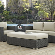 Modway Furniture Modern Sojourn Outdoor Patio Fabric Rectangle Ottoman in Sunbrella EEI-1863-CHC-Minimal & Modern