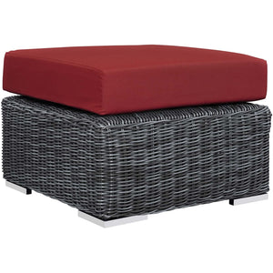 Modway Furniture Modern Summon Outdoor Patio Ottoman EEI-1869-GRY-BEI-Minimal & Modern
