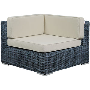 Modway Furniture Modern Summon Outdoor Patio Corner EEI-1870-GRY-BEI-Minimal & Modern