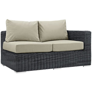 Modway Furniture Modern Summon Outdoor Patio Right Arm Loveseat in Sunbrella EEI-1871-Minimal & Modern