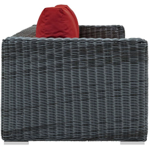 Modway Furniture Modern Summon Outdoor Patio Sofa in Sunbrella EEI-1874-Minimal & Modern