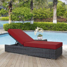 Modway Furniture Modern Summon Outdoor Patio Chaise Lounge EEI-1876-GRY-BEI-Minimal & Modern