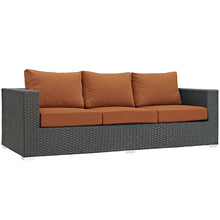 Modway Furniture Modern Sojourn 9 Piece Outdoor Patio Sectional Set in Sunbrella EEI-1881-CHC-Minimal & Modern