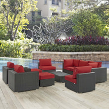 Modway Furniture Modern Sojourn 10 Piece Outdoor Patio Sectional Set in Sunbrella EEI-1888-Minimal & Modern