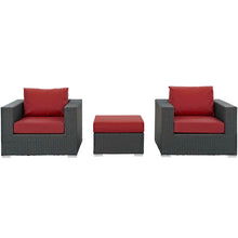 Modway Furniture Modern Sojourn 3 Piece Outdoor Patio Sectional Set in Sunbrella EEI-1891