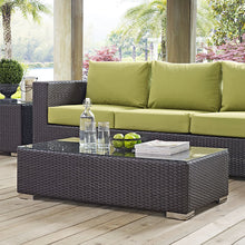 Modway Furniture Modern Convene Outdoor Patio Coffee Table in Espresso EEI-1908-EXP-Minimal & Modern