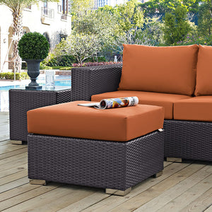 Modway Furniture Modern Convene Outdoor Patio Fabric Ottoman EEI-1911-Minimal & Modern