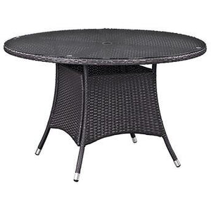 "Modway Furniture Modern Convene 47"" Round Outdoor Patio Dining Table in Espresso EEI-1916-EXP-Minimal & Modern"
