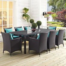 "Modway Furniture Modern Convene 82"" Outdoor Patio Dining Table in Espresso EEI-1920-EXP-Minimal & Modern"