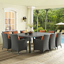"Modway Furniture Modern Sojourn 90"" Outdoor Patio Dining Table in Chocolate EEI-1933-CHC-Minimal & Modern"