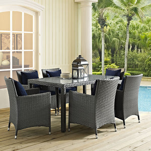 "Modway Furniture Modern Sojourn 59"" Outdoor Patio Dining Table in Chocolate EEI-1934-CHC-Minimal & Modern"