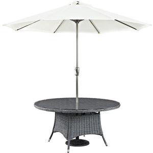 "Modway Furniture Modern Summon 59"" Round Outdoor Patio Dining Table in Gray EEI-1940-GRY-Minimal & Modern"