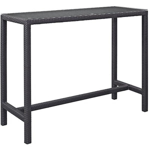 Modway Furniture Modern Convene Large Outdoor Patio Bar Table in Espresso EEI-1954-EXP-Minimal & Modern