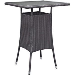 Modway Furniture Modern Convene Small Outdoor Patio Bar Table in Espresso EEI-1955-EXP-Minimal & Modern