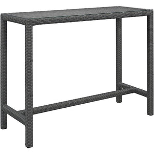 Modway Furniture Modern Sojourn Large Outdoor Patio Bar Table in Chocolate EEI-1956-CHC-Minimal & Modern