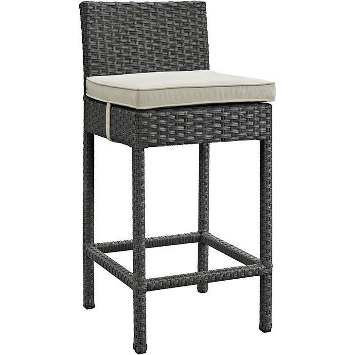 Modway Furniture Sojourn Outdoor Patio Wicker Sunbrella Bar Stool EEI-1957-Minimal & Modern