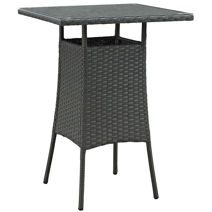 Modway Furniture Modern Sojourn Small Outdoor Patio Bar Table in Chocolate EEI-1958-CHC-Minimal & Modern