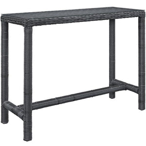 Modway Furniture Modern Summon Large Outdoor Patio Bar Table in Gray EEI-1959-GRY-Minimal & Modern