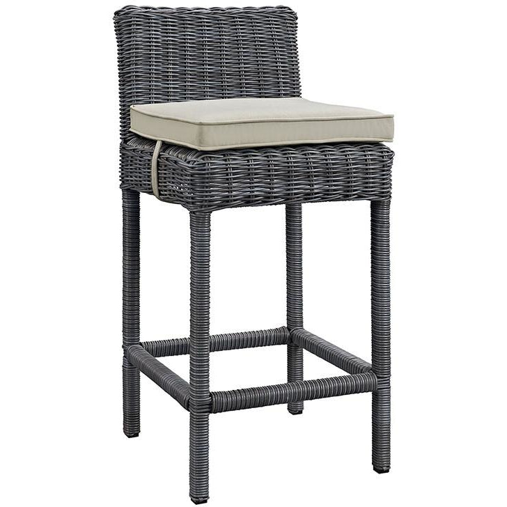 Modway Furniture Modern Summon Outdoor Patio Bar Stool in Sunbrella EEI-1960-Minimal & Modern