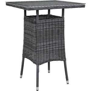 Modway Furniture Modern Summon Small Outdoor Patio Bar Table in Gray EEI-1974-GRY-Minimal & Modern