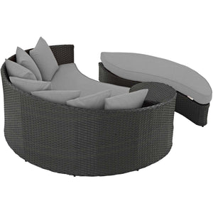 Modway Furniture Modern Sojourn Outdoor Patio Daybed in SunbrellaТЎ EEI-1982-CHC-Minimal & Modern