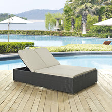 Modway Furniture Modern Sojourn Outdoor Patio Chaise in Sunbrella EEI-1983-CHC-Minimal & Modern