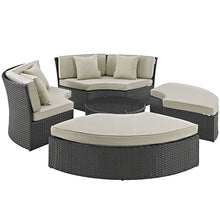 Modway Furniture Modern Sojourn Outdoor Patio Daybed in Sunbrella EEI-1984-CHC-Minimal & Modern