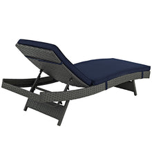Modway Furniture Modern Sojourn Outdoor Patio Chaise in Sunbrella EEI-1985-CHC-Minimal & Modern