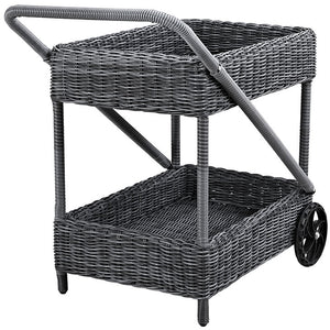 Modway Furniture Modern Summon Outdoor Patio Beverage Cart in Gray EEI-1990-GRY-Minimal & Modern