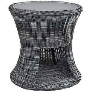 Modway Furniture Modern Summon Outdoor Patio Side Table in Gray EEI-1991-GRY-Minimal & Modern