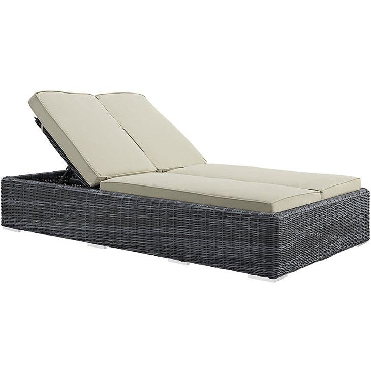 Modway Furniture Modern Summon Outdoor Patio Chaise in Sunbrella EEI-1994-Minimal & Modern