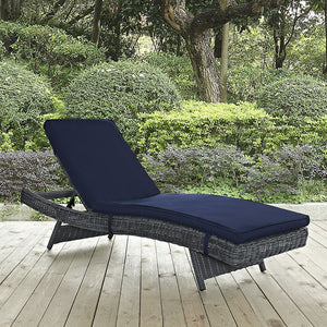 Modway Furniture Modern Summon Outdoor Patio Chaise in Sunbrella EEI-1996-Minimal & Modern