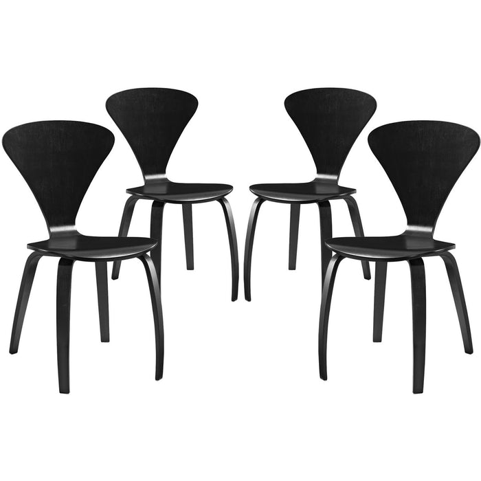 Modway Furniture Modern Vortex Dining Chairs Set of 4 - EEI-2000-Minimal & Modern