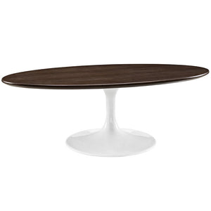 "Modway Furniture Modern Lippa 48"" Oval-Shaped Walnut Coffee Table EEI-2020-WAL-Minimal & Modern"