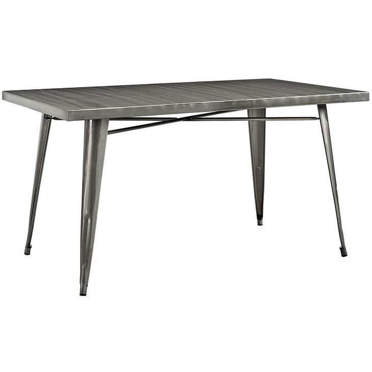 Modway Furniture Modern Alacrity Dining Table in Gunmetal EEI-2033-GME-Minimal & Modern