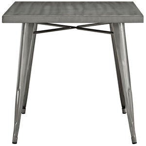 Modway Furniture Modern Alacrity Metal Dining Table in Gunmetal EEI-2035-GME-Minimal & Modern