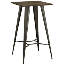 Modway Furniture Metal and Wood Direct Bar Table in Brown EEI-2038-BRN-Minimal & Modern