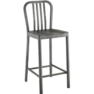 Modway Furniture Modern Clink Counter Stool in Silver EEI-2040-SLV-Minimal & Modern